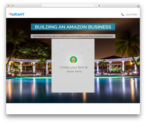 Variant Landing Page Four template WordPress free - learningallaboutmoney.com