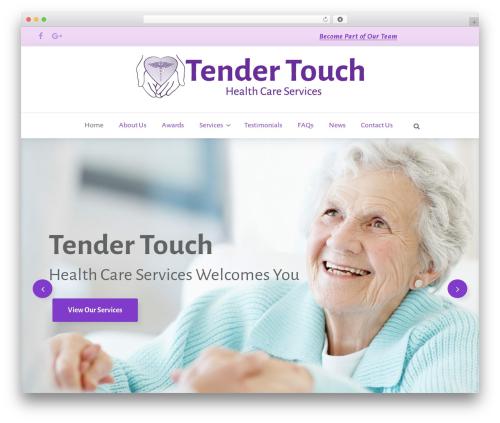 WordPress theme Pristine - tendertouchhomehealth.com