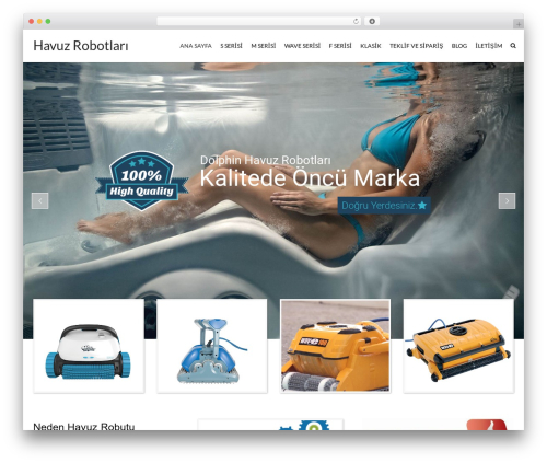 WordPress website template SwimmingPool - havuztemizlikrobotu.com