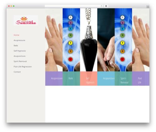 Avada WordPress theme - samsthita.com