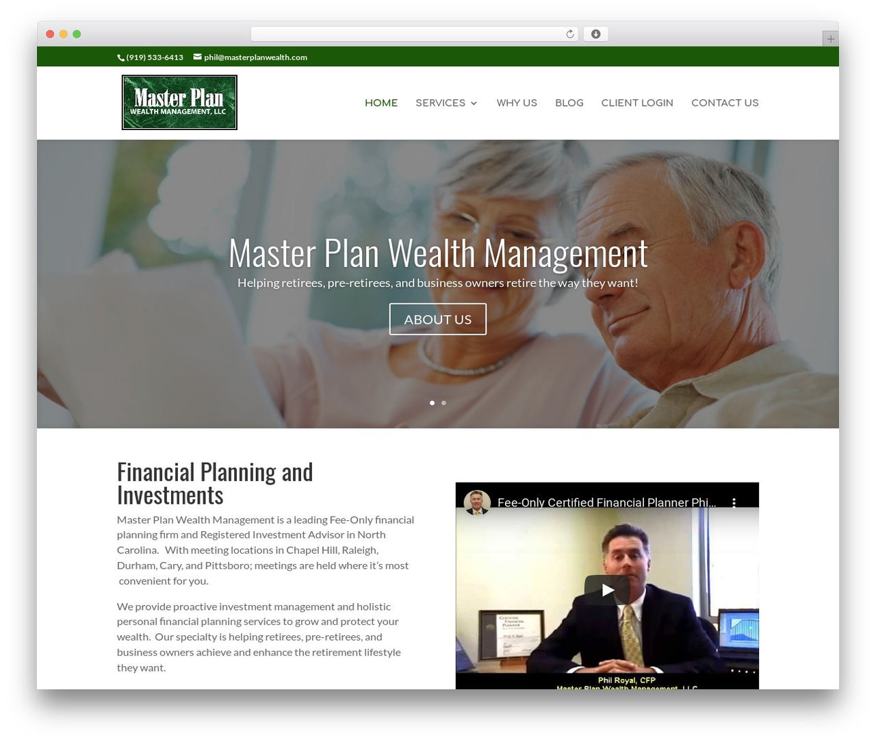 Divi WordPress theme - masterplanwealth.com