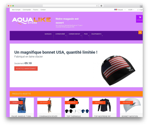 HomeShop WordPress shop theme - aqualikestore.com