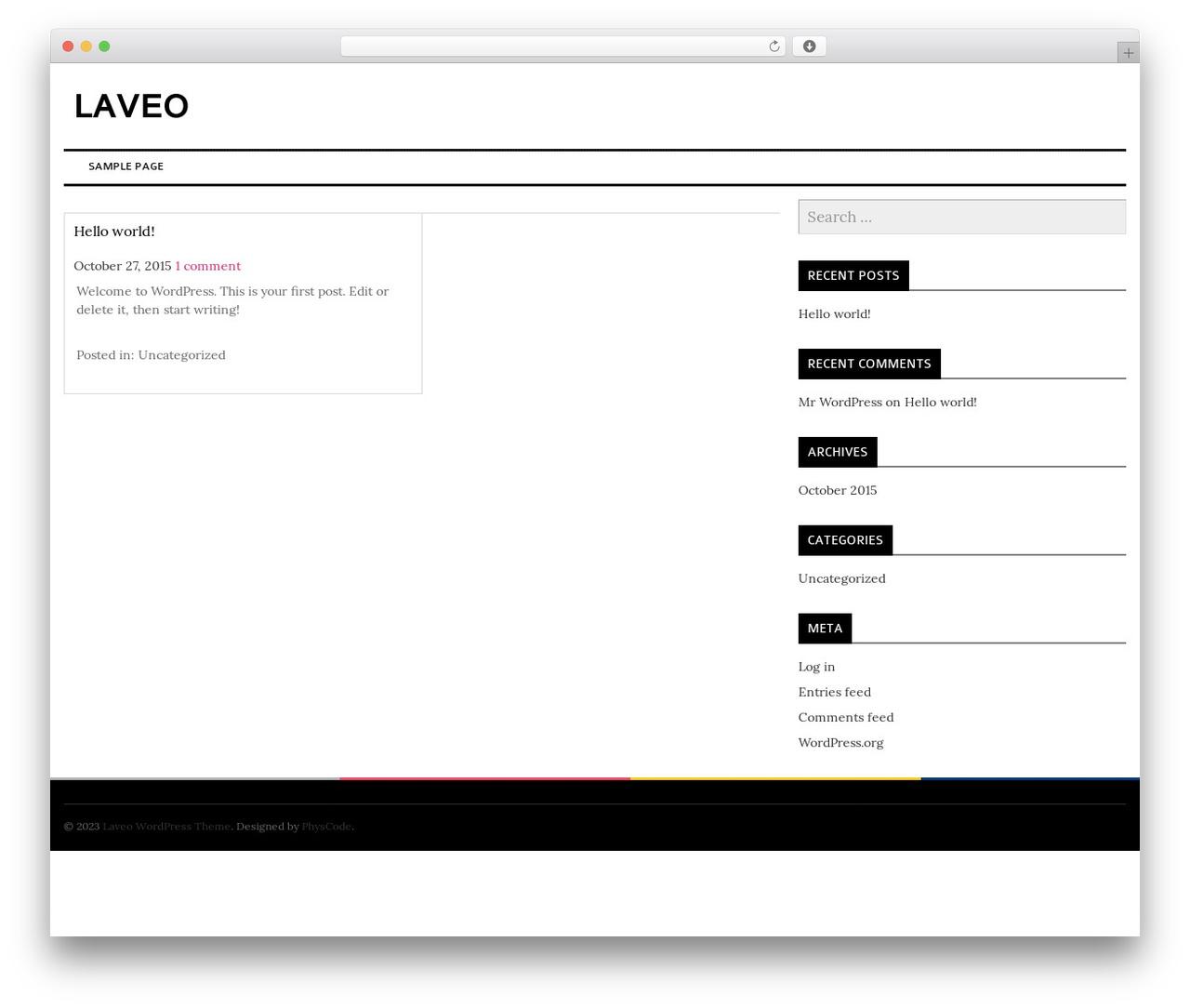 laveo best WordPress template - the-secret-email-diaries-of-saya-sado.com