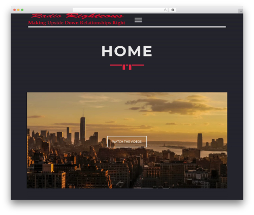 Sonik WordPress theme design - radiorighteous.com
