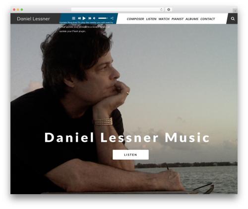 TheArtist WordPress template - daniellessner.com