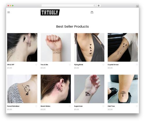 Unero theme WordPress - tatooly.com