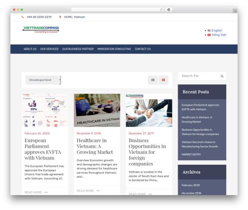 WordPress theme graduate - viettradecompass.com