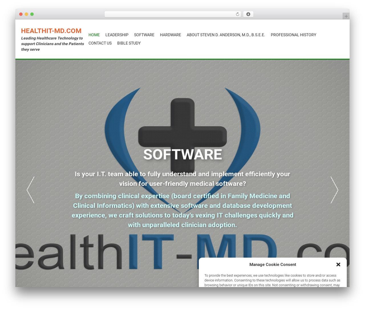 AccessPress Parallax free WordPress theme - healthit-md.com