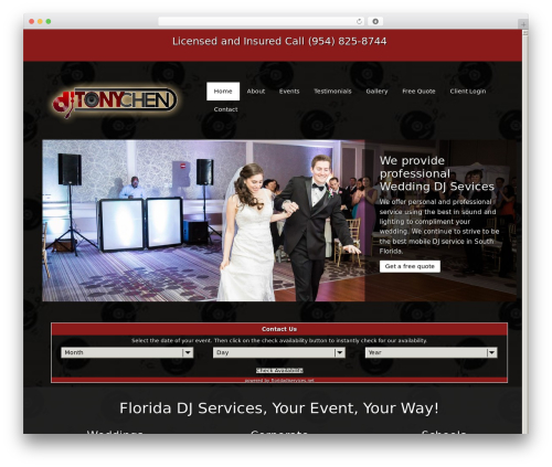 Best WordPress template DJ - djtonychen.com