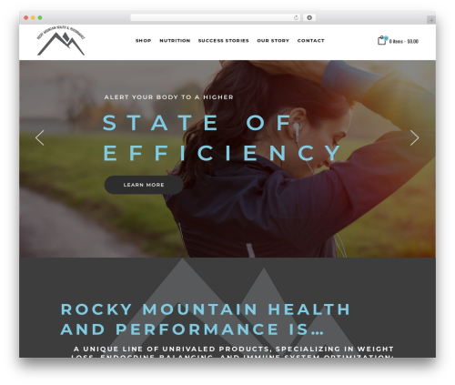Best WordPress template TopFit - rockymountainhp.com
