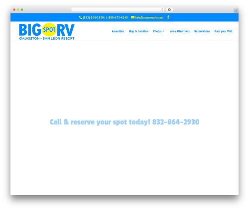 Divi best WordPress template - bigspotrv.com