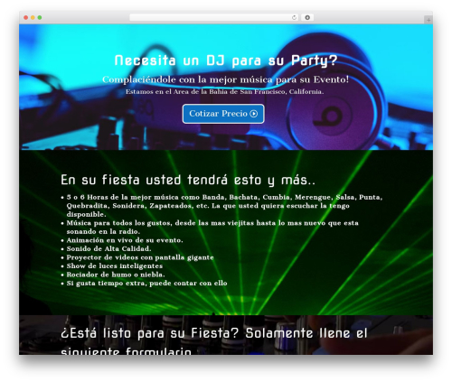 Divi WordPress page template - floresdj.com