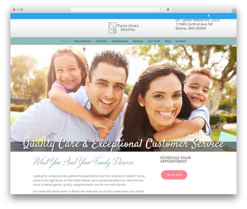 Divi WordPress theme - twinoaksdental.com
