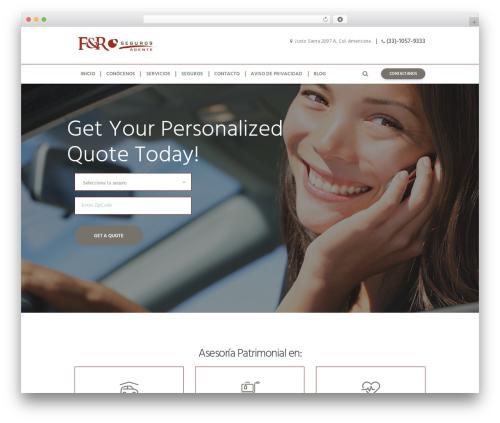 Insurance-Ancora WordPress theme - frseguros.com
