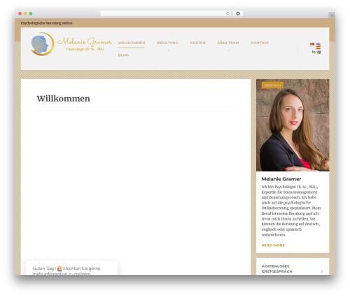 MentalPress WP Theme WordPress website template - melaniegramer.com