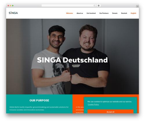 Polestar free WP theme - singa-deutschland.com