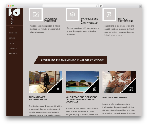 Veda theme WordPress - sdstudioferrara.com
