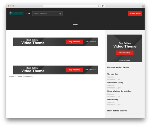 videopro WordPress video theme - companyapplication.com