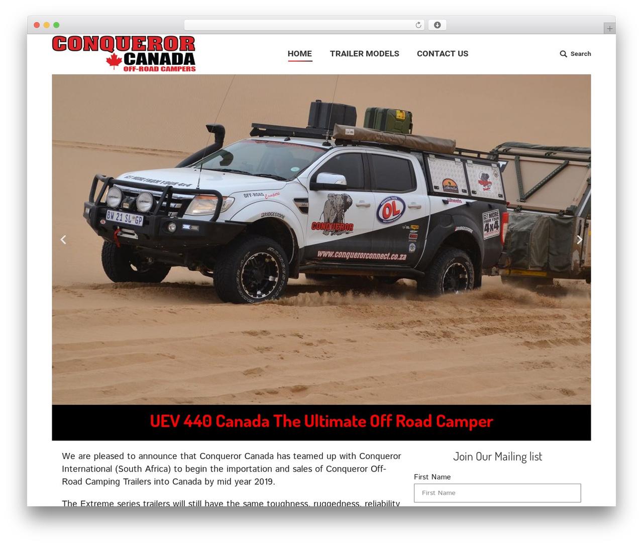WP template The7 | Shared by VestaThemes.com - conquerorcanada.com