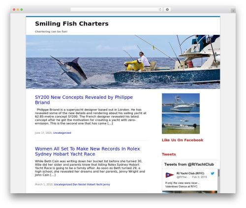 Best WordPress template Clean Word - smilingfishcharters.com