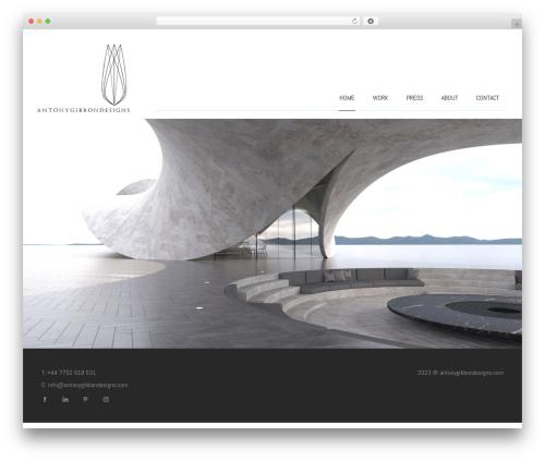 BLANK Theme business WordPress theme - antonygibbondesigns.com
