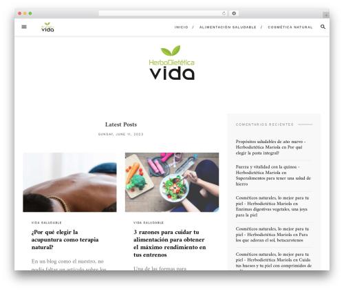Blover best WordPress template - herbodieteticavida.com