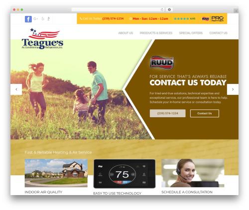 Construction top WordPress theme - teaguesair.com