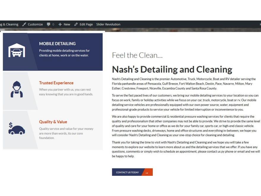Detailing WordPress theme