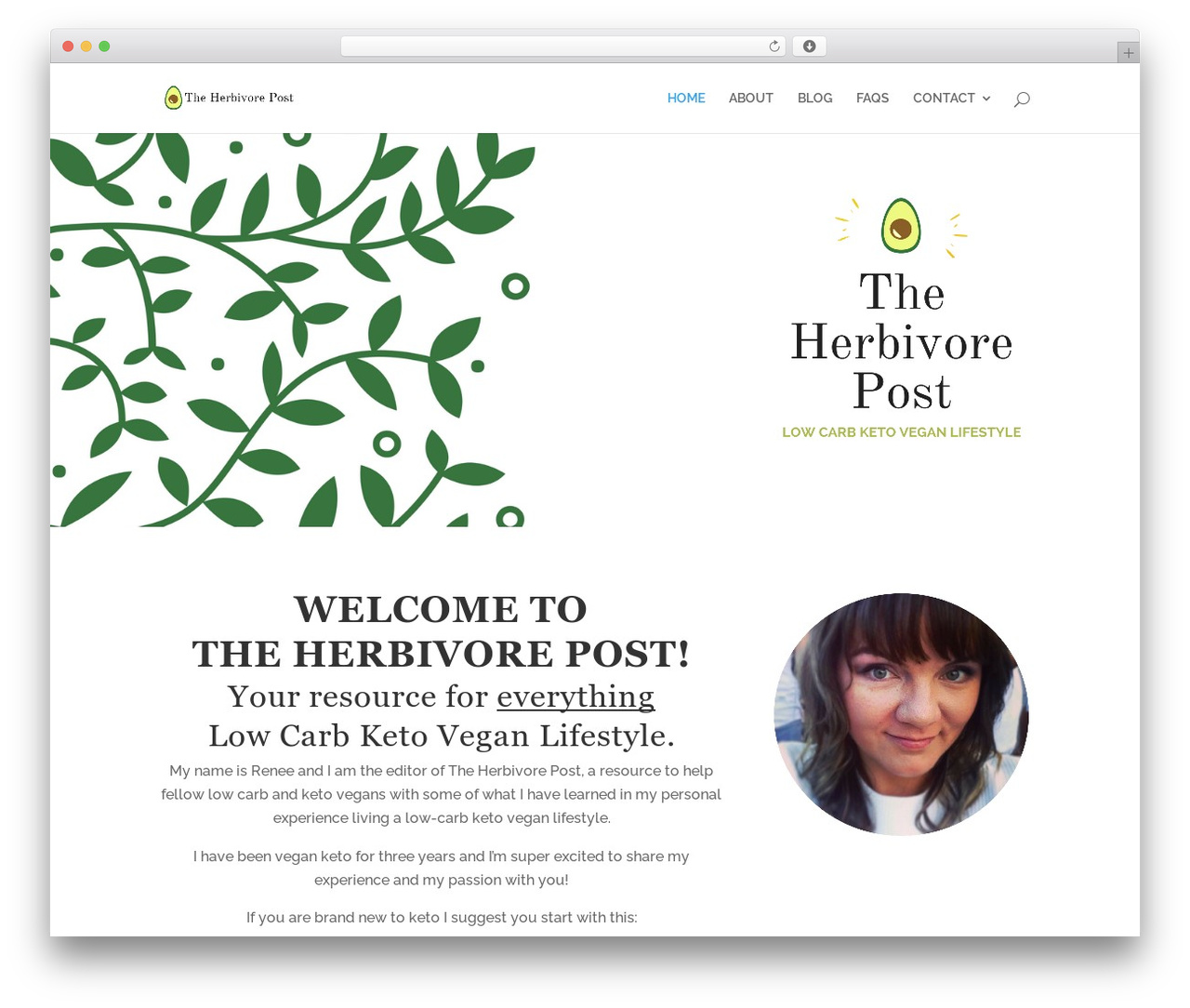 Divi best WordPress template - herbivorepost.com