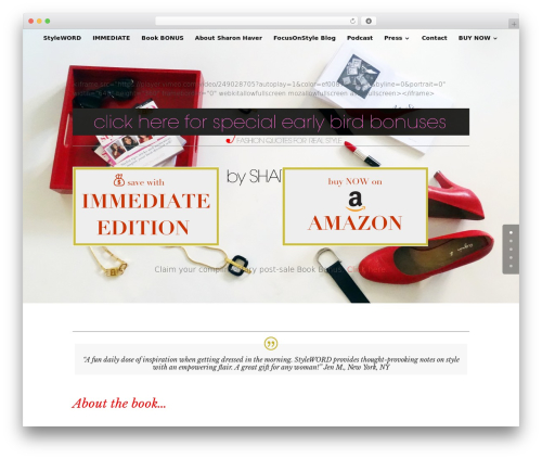 Divi WordPress website template - stylewordbook.com