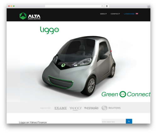 Encase premium WordPress theme - altagreenmotors.com