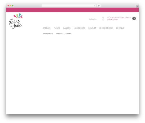 Kute Boutique theme WordPress - auxfoliesdejulie.com