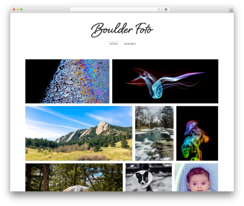 Photographer WordPress template for photographers - boulderfoto.com