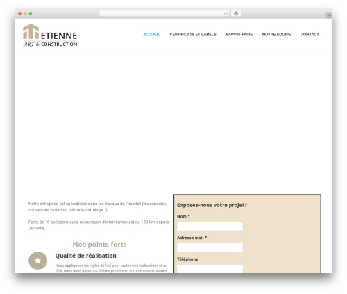 Poseidon free website theme - etienne-art-construction.com