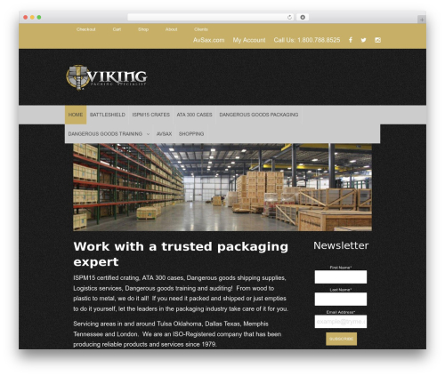 ProStore WordPress shopping theme - vikingpacking.com