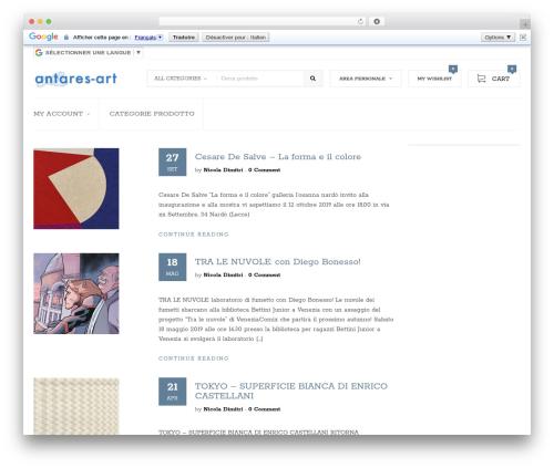 WordPress template Despacho - antares-art.com