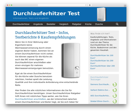 WordPress theme Twenty Thirteen Child - durchlauferhitzer-tests.com