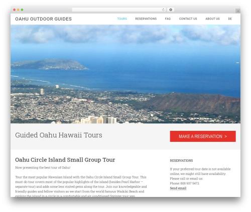 WordPress website template Minimum Pro Theme - oahuoutdoorguides.com