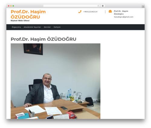 Academic Education theme WordPress - hasimozudogru.com