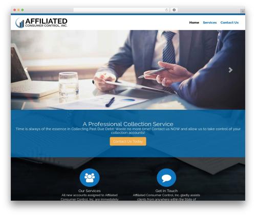 Ajusta WordPress page template - acccollect.com