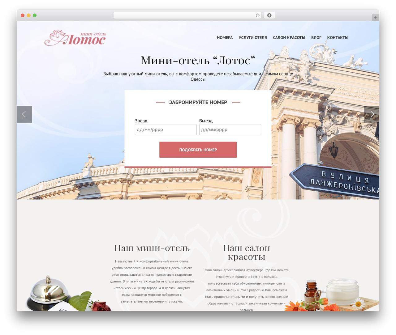 Best WordPress theme Salient - hotel-lotos.com