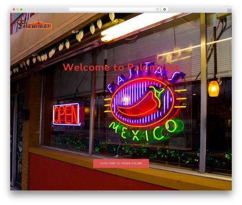 Bistro WordPress restaurant theme - palominomexicanfood.com