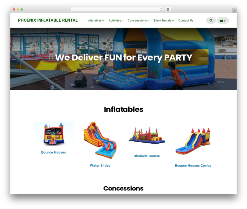 Businessx template WordPress free - phoenixinflatablerental.com