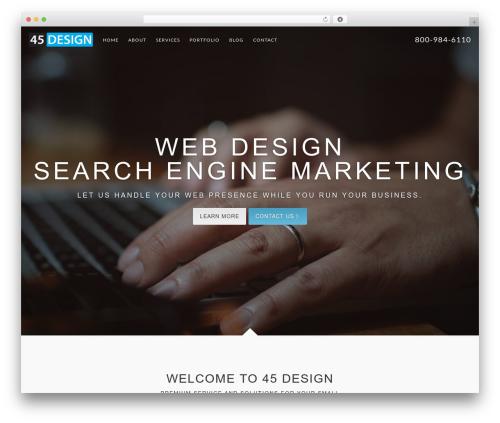 Catalyst WordPress page template - 45design.com