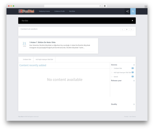 Grifus WordPress theme - fandizi.com