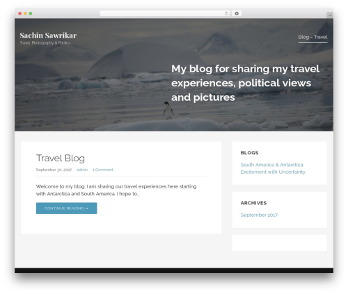 Lyrical best WordPress template - sawrikar.com