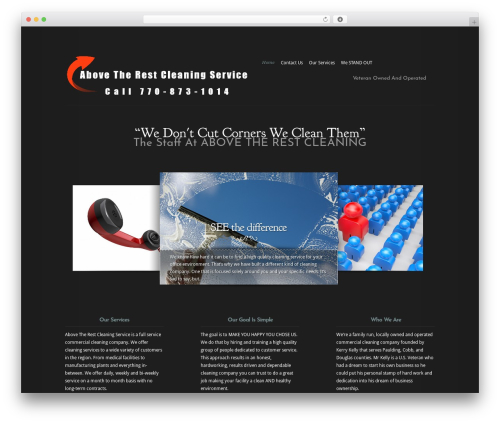 Modest WP template - abovetherestcleaningservice.com