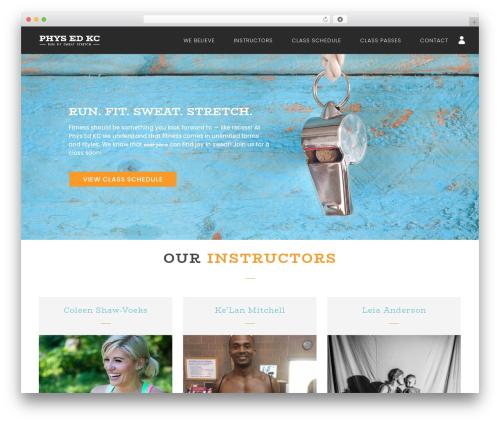 NOO Yogi gym WordPress theme - physedkc.com