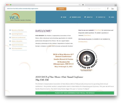 Responsive Brix Child WordPress theme - wcaofnm.com