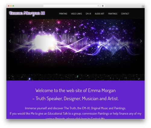WordPress website template NOO Wemusic - emmamorgan11.com